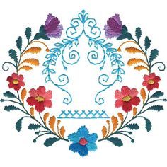 Mexican Flowers Centerpiece 2 (MANY MORE IN DESGIN PACK)$9.99 - 564x564 - jpeg