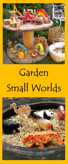 Garden of Our Dreams - Small World - Fine motor skills - messy play - outdoors - gardening - play - early years - imagination Kids Outdoor Play, Outdoor Play Areas, Backyard Play, Outdoor Learning, Dinosaur Small World, Small World Play, Construction Area Early Years, Small Natural Garden Ideas, Eyfs Outdoor Area