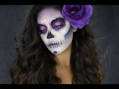 298 Likes, 86 Comments - Jessi 💛 Candy Skull Makeup, Halloween Makeup Sugar Skull, Cute Halloween Makeup, Sugar Skull Makeup Tutorial, Halloween Hair, Halloween Costumes, Skeleton Face Makeup, Skeleton Face Paint, Maquillaje Sugar Skull