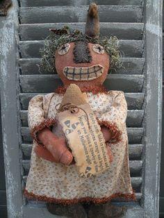 Primitive Jack O Lantern Pumpkin DoLL PATTERN - SPPO Kandy Korn and Jak