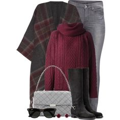 how to wear a poncho with sweater 3