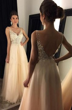 Deep V Back Prom Dress Prom Dresses Party Gown Cocktail Formal Wear pst1509 Clothing, Shoes & Jewelry : Women : dress for women http://amzn.to/2meoyF8