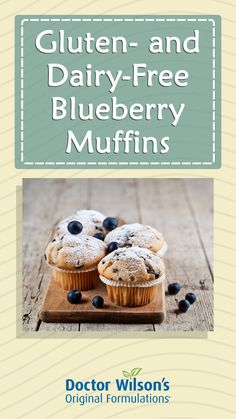 Adrenal Fatigue Diet, Dairy Free Recipes, Healthy Recipes, Effects Of Stress, Breakfast Muffins, Blue Berry Muffins, Blueberry, Place Card Holders, Food