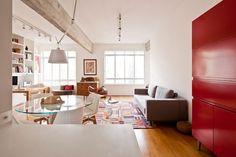 อพาร์ทเม้นมีความอบอุ่นและสบายด้วยรูปแบบที่สนุกสนานและสัมผัสของสี | fPdecor.com | ศูนย์รวมแบบบ้าน และ ตกแต่ง หลากหลายสไตล์