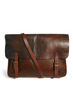 Royal RepubliQ   Royal RepubliQ Leather Messenger Bag at ASOS $444