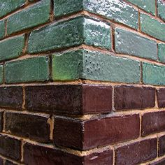 I'm really obsessed with glazed brick. Brick Cladding, Brick Facade, Brickwork, Brick Wall, Wall Cladding, Roof Colors, 2 Colours, Brick Architecture, Architecture Details