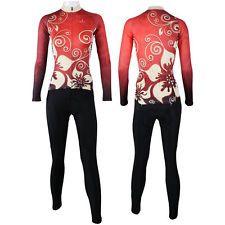 2015 Women's Red Color Bike Sportwear Long Sleeve Cycling Jersey Size XS--XXXL