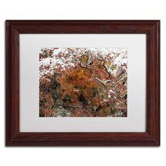 Kurt Shaffer 'Early Snow Fall' Matte, Wood Framed Wall Art