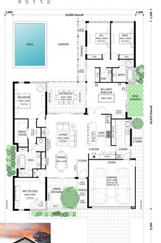 Southern House Plans, Family House Plans, New House Plans, Dream House Plans, House Floor Plans, Beautiful House Plans, Home Design Floor Plans, Floor Layout, Cottage Plan