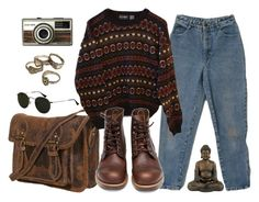 """it feels like we only go backwards"" by alicemsrose ❤ liked on Polyvore featuring Ray-Ban, INDIE HAIR and Red Wing"