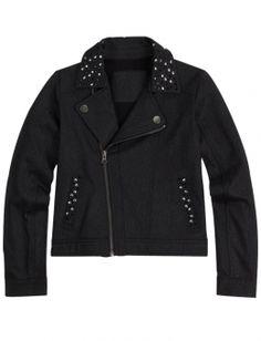 Embellished Knit Moto Jacket | Girls Outerwear Clothes | Shop Justice