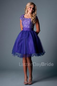 modest homecoming dresses, the Clancy in purple at LatterDayBride