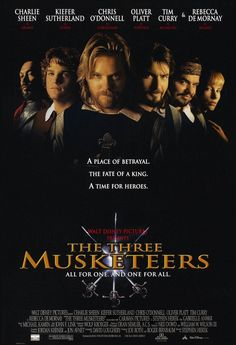 The Three Musketeers Charlie Sheen, Kiefer Sutherland 90s Movies, Great Movies, Disney Movies, Movies To Watch, Comedy Movies, Pixar Movies, Charlie Sheen, Michael Wincott, Julie Delpy