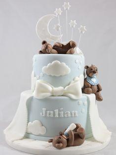 Baptism Cake Taufe Bär Teddy Motivtorte Tauftorte