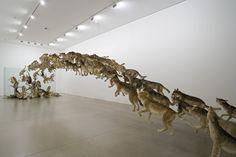 """""""Head On"""", de Cai Guo-Qiang - líneas sobre arte Contemporary Artists, Modern Art, Cai Guo Qiang, National Art Museum, Instalation Art, Bio Art, New York Museums, Sculpture Art, Art Photography"""