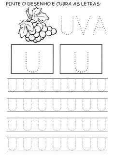 Toddler Learning, Learning Activities, Activities For Kids, Alphabet Writing Worksheets, Pre Writing, Preschool Kindergarten, Maria Clara, Crepes, Homeschooling