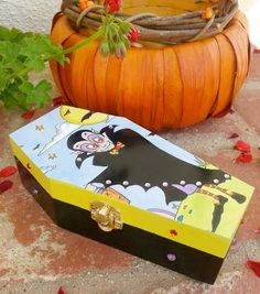 Dracula Coffin Box  Halloween Favor by BuddhaCatArt on Etsy