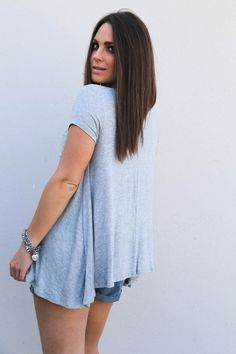Buddy Love Basic Tee {Gray}