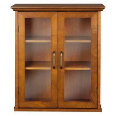 045 Elegant Home Fashions Lexington Wall Cabinet with 2 Doors - Oil oak in Home & Garden | eBay. 85$