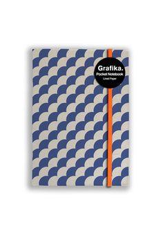 Grafika Blue/White A6 Notebook