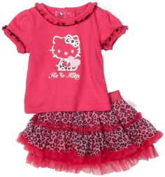 Hello Kitty Baby-girls Infant Leopard Skirt Set $22.40