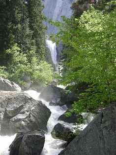 Yosemite National Park - Vernal Fall  #Yosemite #YosemiteNationalPark #VernalFalls #California #USA