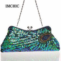 $20.49 (Buy here: https://alitems.com/g/1e8d114494ebda23ff8b16525dc3e8/?i=5&ulp=https%3A%2F%2Fwww.aliexpress.com%2Fitem%2FNew-Fashion-Women-s-Handbags-Peacock-Feather-Pattern-Sequins-Beaded-Bridal-Clutch-Purse-Chain-Evening-Bag%2F1895337060.html ) 2016 Vintage Women's Clutches Chain Evening Bags Peacock Pattern Sequins Beaded Bridal Clutch Purse luxury mini handbag party for just $20.49