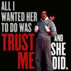 Rocky V Movie   Photo: Share this post if you think that trust is important!