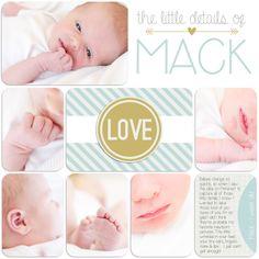 digi baby album {MACK'S BABY ALBUM}