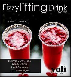"Voli Light Vodka - Fizzy Lifting Drinks for two  www.LiquorList.com  ""The Marketplace for Adults with Taste"" @LiquorListcom   #LiquorList"