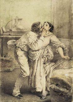 Mihály Zichy - Artist's Love