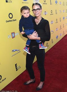 Beautiful in black: Actress Jordana Brewster sported an all black ensemble as she carried ...