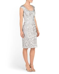 Sheath Dress With Cap Sleeves