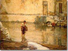 Λαζαρίδης Θεόδωρος .Γυναίκες στο ποτάμι,π 1940-
