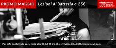 Lezioni di batteria in promozione a 25 euro l'una