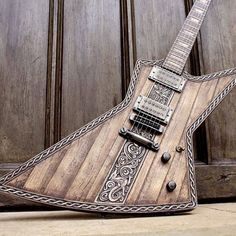 Hutchinson Guitar Concepts Viking Explorer. We say again, wood ya look at that.