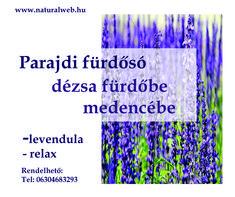 Parajdi fürdősó - levendulás relax otthon fürdőzésre.