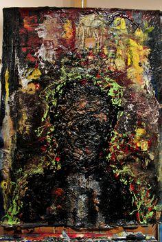 w.sito - A. Portnoy (mixed media on board, 80x60 cm)
