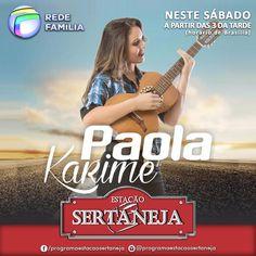Ela é bruta por demais, e este sábado ela estará no nosso programa mostrando todo o seu talento, com uma voz encantadora !!! Paola Karime no  Estação Sertaneja. PGM 6 - Musical