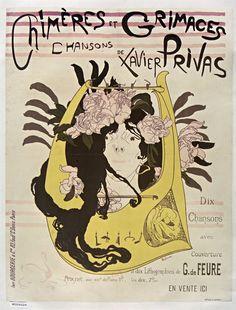 Chiméres et grimaces : chansons de Xavier Privas, dix chansons avec couverture et dix lithographies de G. de Feure | Georges de Feure | 1897 | National Library Of France | Public Domain