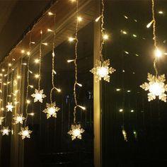 3.8M LED Snowflake Christmas String Lights