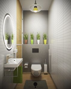 Space Saving Toilet Design for Small Bathroom - Home to Z Space Saving Toilet, Small Toilet Room, Guest Toilet, Downstairs Toilet, New Toilet, Large Bathroom Design, Bathroom Interior Design, Large Bathrooms, Grey Bathrooms