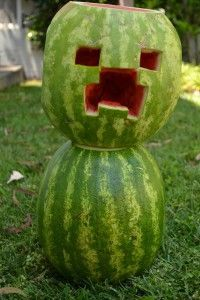Your kids will love these watermelon carving ideas, from Shrek, to a Minecraft Creeper, to Olaf from Frozen, and more! Great for parties! Minecraft Birthday Party, Birthday Fun, Birthday Parties, Watermelon Art, Watermelon Carving, Halloween Party Decor, Halloween Crafts, Halloween 2018, Halloween Ideas
