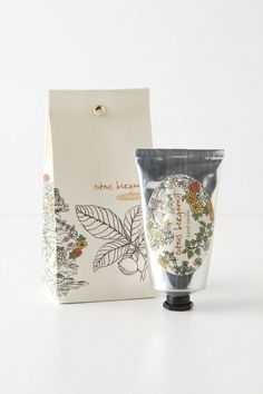 Citrus tied & folded hand cream.- I love the illustration on this product!
