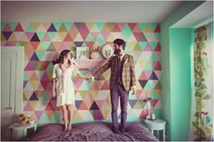 dying to paint our walls filled with triangles
