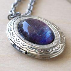 Violet Sky Locket Necklace