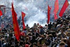 Turkish police clash with protesters in Ankara and Istanbul in anti-government rallies that began as a protest over a park redevelopment. Drudge Report, Old Things, Things To Come, Riot Police, Red Flag, Middle East, Revolution, The Past, Politics