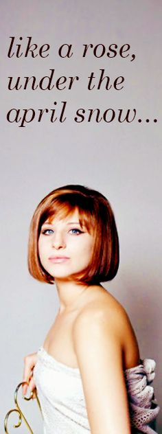 Barbra Streisand's Evergreen Lyrics Her first full out effort at solo songwriting. I think it worked!