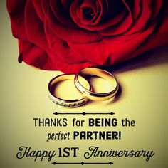 One-year marriage anniversary message: Thanks for being the perfect partner. One-year marriage anniversary message: Thanks for being the perfect partner. One Year Anniversary Message, 1st Wedding Anniversary Quotes, Anniversary Quotes For Husband, Happy Marriage Anniversary, Happy Anniversary Wishes, Anniversary Cards, 1st Anniversary Status, Anniversary Boyfriend, Anniversary Pictures