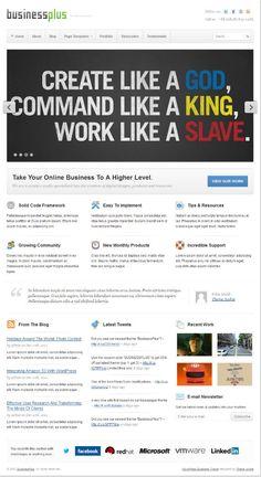 Businessplus WordPress Theme for portfolio and general business website